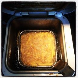 La texture de la friture